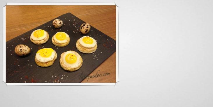 Toast de foie gras et oeufs de caille