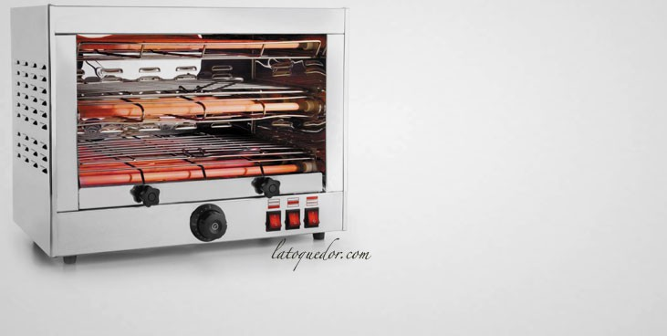 Toaster professionnel inox 2 niveaux