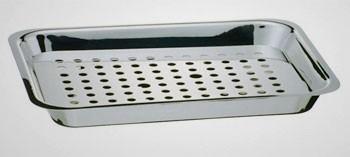 Plaque à débarrasser en inox avec grille