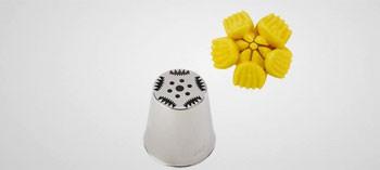 Douille inox décor fleur cactus n°7