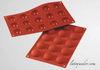 Moule silicone 15 demi sphères Silicon Flex
