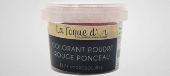 Colorant poudre rouge ponceau hydrosoluble