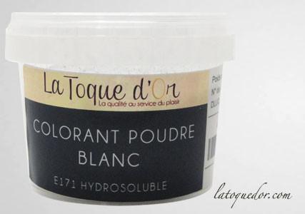 Colorant poudre blanc hydrosoluble