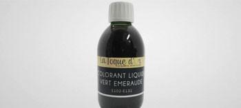 Colorant liquide vert emeraude 250 ml