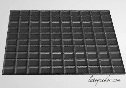 Tapis silicone chocolat pour moule à bûche