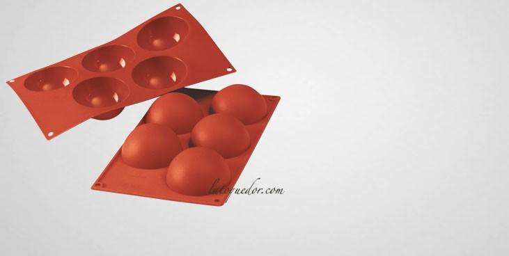 Moule silicone 5 demi sphères Silicon Flex - 80 mm