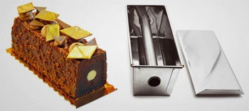 Moule à cake inox avec insert tube et couvercle