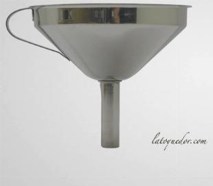 Entonnoir inox avec filtre