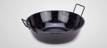 Sauteuse à anses en acier émaillé