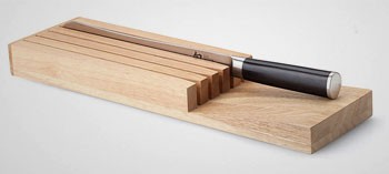 Bloc de rangement 5 couteaux pour tiroir