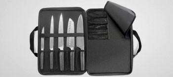 Trousse 5 couteaux inox Asean - Sabatier Trompette