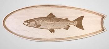 Planche à découper bois spéciale poisson