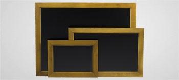 Ardoise murale rectangulaire cadre bois