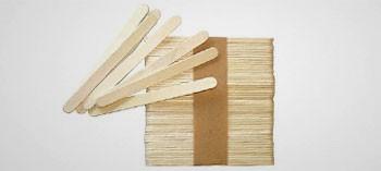 Bâtonnets bois pour esquimaux glacés (x50)