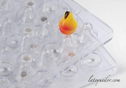 Moule à chocolat magnétique 3D forme poires