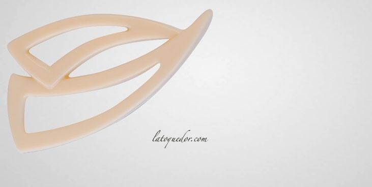 Plaque pour décors chocolat forme corne