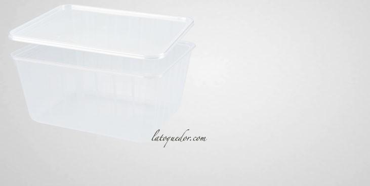 Barquette plastique cristal avec couvercle 75 cl - Cartybox