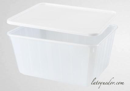 Barquette plastique opaque avec couvercle 115 cl - Cartybox
