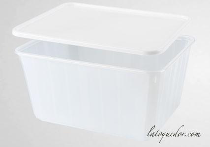 Barquette plastique opaque avec couvercle 180 cl - Cartybox