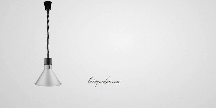Lampe chauffante extensible conique finition mat