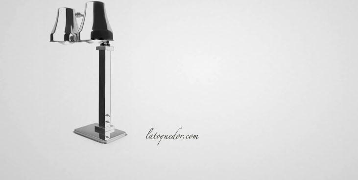 Lampe Chauffante Double Sur Pied en Inox Plaques Lampes