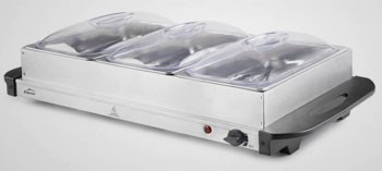 Plaque chauffante inox 300W avec bacs gastronormes