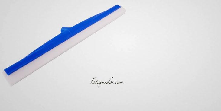Raclette de sol bleue mousse blanche