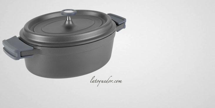 027da7219ec807 Faitout ovale en fonte d aluminium avec couvercle - Faitout rond en ...