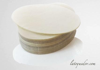Papier à steak haché ovale cellophane (x1000)