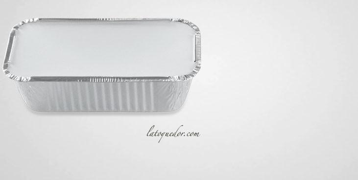 Barquette aluminium avec couvercle 430 ml (x100)
