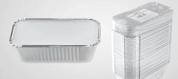 Barquette aluminium avec couvercle 685 ml (x500)