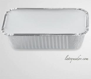 Barquette aluminium avec couvercle 1500 ml (x100)