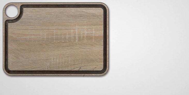 Planche à découper en fibre effet bois avec rigole