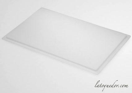 Couvercle pour bac à pâtons polyéthylène blanc 60x40 cm
