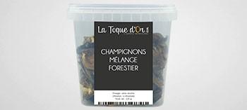 Champignons mélange forestier séché
