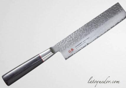 Couteau nakiri japonais damassé Senzo Classic - Suncraft