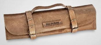 Trousse à couteaux vide en cuir - Au Nain