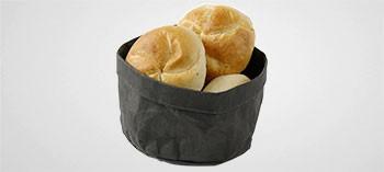Corbeille à pain en papier kraft noir