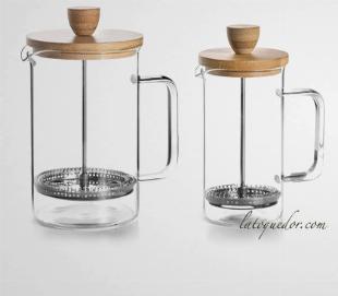 Cafetière à piston verre Wood - Lacor