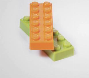 Moule chocolat Lego brique de 6 - Martellato