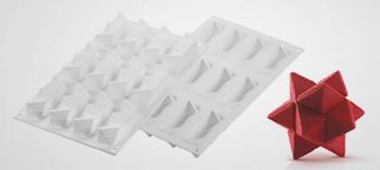 Moule à chocolat silicone étoile 3D Star Game - Silikomart