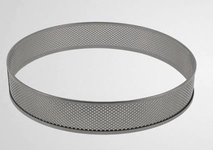 Cercle à tarte inox perforé bord haut