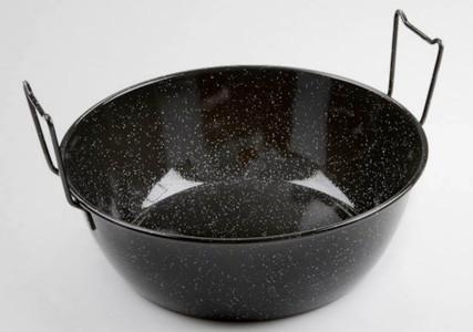 Bassine à friture en acier émaillé