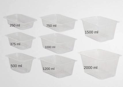 Barquette plastique thermoscelable translucide chaude (x100)