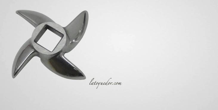 Couteau inox pour hachoir à viande N°12