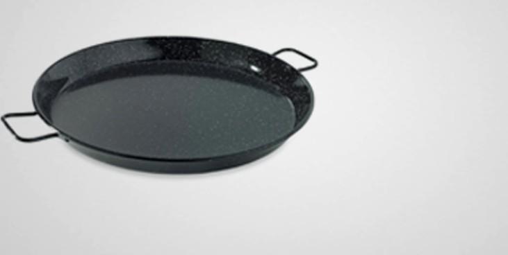 Plat à paella tôle émaillée