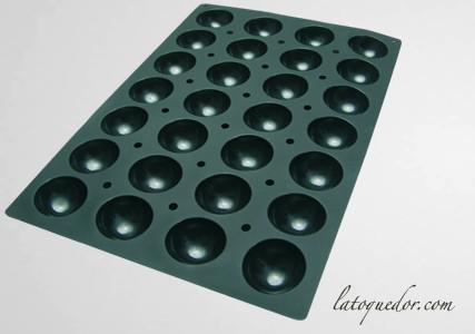Moule silicone professionnel demi-sphère 28 empreintes