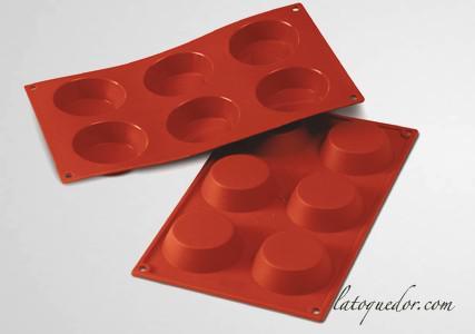 Moule silicone 6 tartelettes Silicon Flex