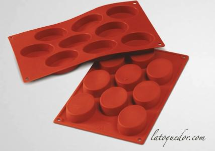Moule silicone 9 ovales Silicon Flex