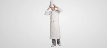 Tablier de cuisinier blanc